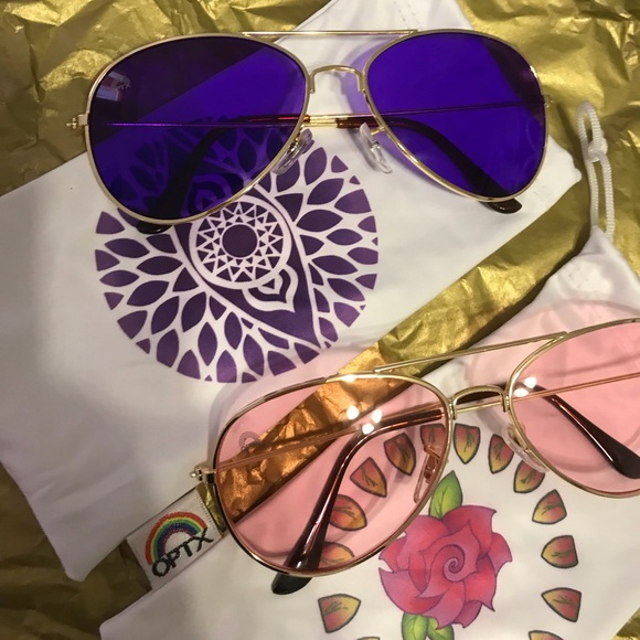 53b0e8161ba Brand new Rainbow OPTX indigo and rose aviator s